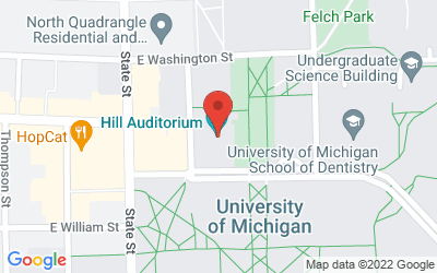 Map of 825 N UNIVERSITY AVE, 48109