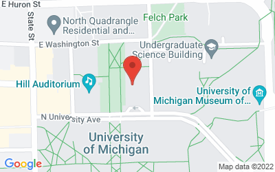 Map of 911 North University, Ann Arbor, MI 48109-1265