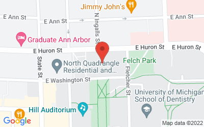 Map of 915 East Washington, Ann Arbor, MI 48109-1070