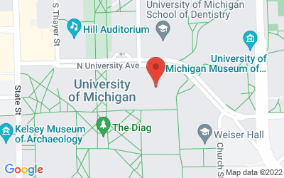 Map of 930 North University, Ann Arbor, MI 48109-1055