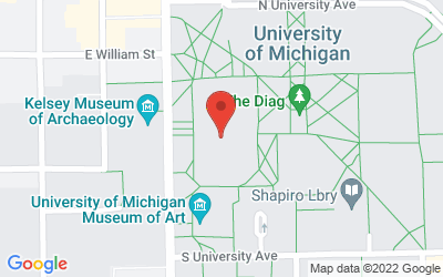 Map of Angell Hall Auditorium A • 435 S. State Street, Ann Arbor, MI