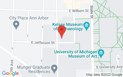 Map of Ann Arbor, FM Radio Broadcast, WCBN 88.3