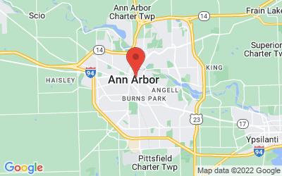 Map of Ann Arbor, Michigan