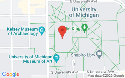 Map of Auditorium A, Angell Hall • 435 S. State Street, Ann Arbor, MI