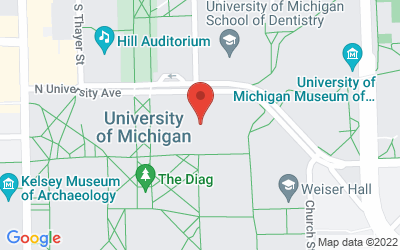 Map of Chemistry Building, Room 1300