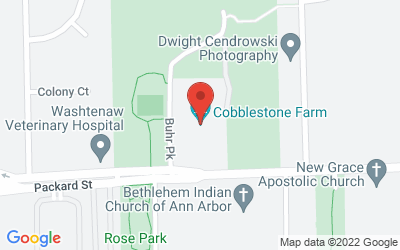 Map of Cobblestone Farm, 2781 Packard Road, Ann Arbor