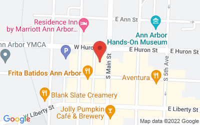 Map of Crazy Wisdom Bookstore, 114 South Main Street, Ann Arbor