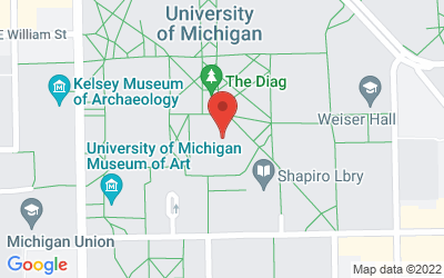 Map of Hatcher Library Gallery, Room 100, 913 S. University Avenue