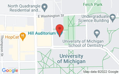 Map of Hill Auditorium (825 North University Avenue,