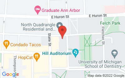 Map of Institute for the Humanities Gallery, 202 S. Thayer, Ann Arbor, MI