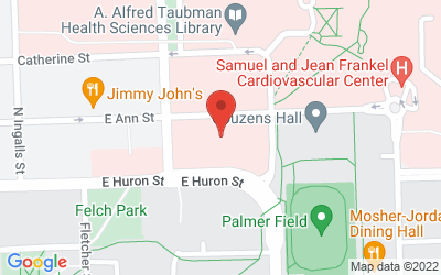 Map of Kahn Auditorium, Taubman Biomedical Science Research Building, 109 Zina Pitcher Place Ann Arbor, MI 48109