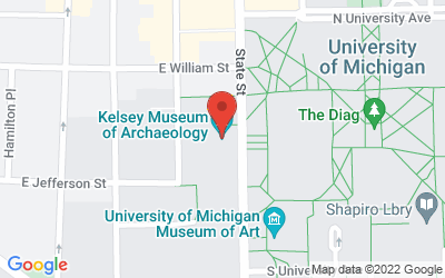 Map of Kelsey Museum, 434 South State St., Ann Arbor