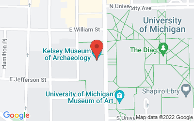 Map of Kelsey Museum 434 South State Street Ann Arbor Michigan 48109-1390