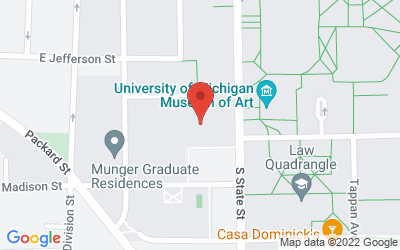 Map of Kuenzel Room, Michigan Union <br>