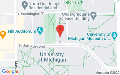 Map of Michigan Room in the Michigan League911 N University Avenue, Ann Arbor