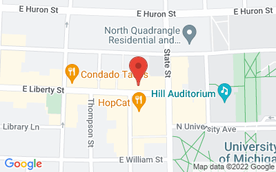 Map of Michigan Theater, 603 E. Liberty, Ann Arbor
