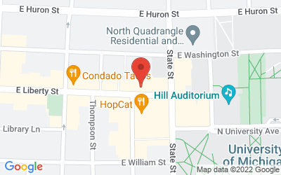 Map of Michigan Theater, 603 E. Liberty Street, Ann Arbor, MI 48104