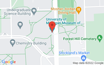 Map of Museum of Natural History, 1109 Geddes Ave., Ann Arbor, MI 48109