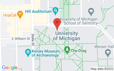 Map of Natural Sciences Auditorium, Kraus Natural Sciences Building, 830 North University, Ann Arbor, MI 48109-1048