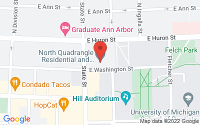 Map of North Quad, Space 2435, 105 South State Street, Ann Arbor, MI 48104
