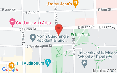 Map of Rackham Graduate School Amphitheater, 915 E Washtington St, Ann Arbor, MI