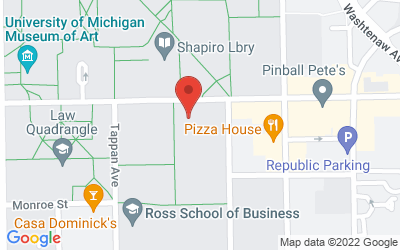 Map of Room 1636 School of Social Work Bldg.<br>