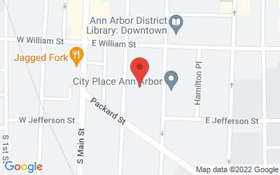 Map of Storefront at 314 S. Fourth Avenue, Ann Arbor