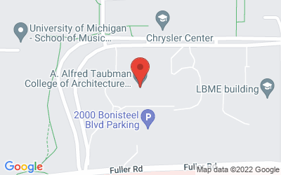 Map of Taubman College Lecture Theater