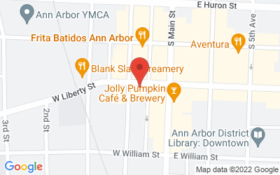 Map of The Ann Arbor Art Center [117 West Liberty, Ann Arbor, MI, 48104]