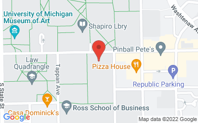 Map of The Gallery of the International Institute, School of Social Work Bldg., 1080 S. University Avenue, Ann Arbor, 48109
