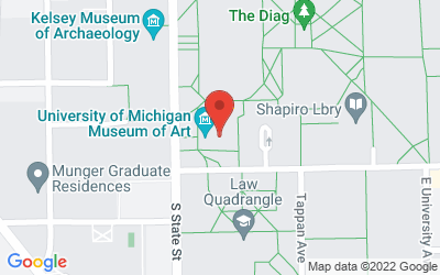 Map of University of Michigan Museum