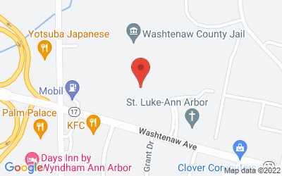 Map of Washtenaw County Campus, 4125 Washtenaw Avenue, Ann Arbor, MI 48108