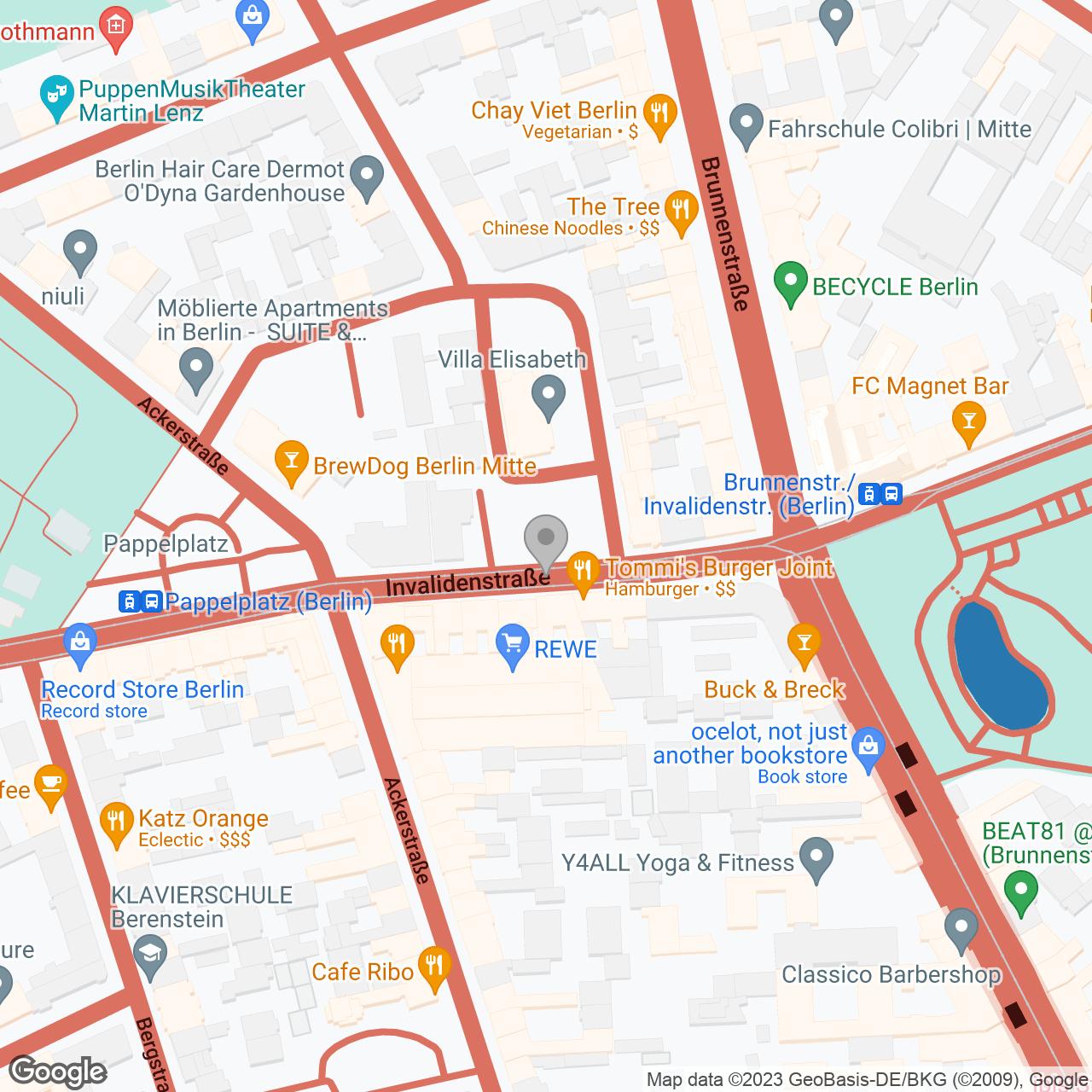 Map of Berlin Mitte, Villa Elisabeth