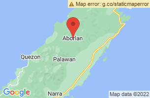 Map of Tagbanua, Aborlan Palawan