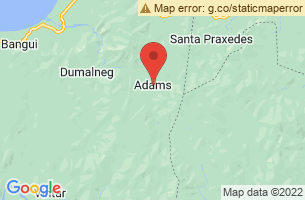 Map of Adams, Adams Ilocos Norte
