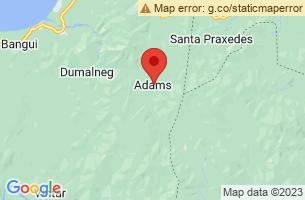 Map of Anuplig Falls, Adams Ilocos Norte