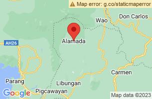 Map of Asik Asik Falls, Alamada Cotabato