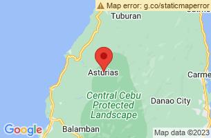 Map of Asturias, Asturias Cebu