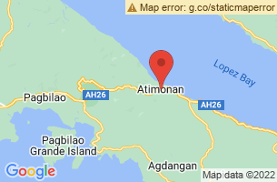 Map of Mount Pinagbanderahan, Atimonan Quezon