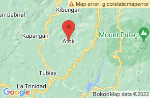 Map of Mount Timbak, Atok Benguet