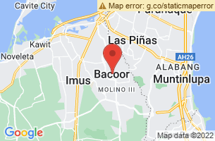 Map of Bacoor City, Bacoor City Cavite
