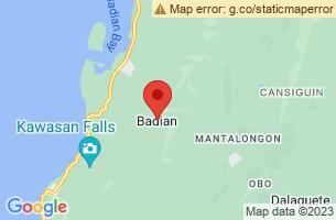 Map of Badian, Badian Cebu