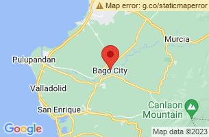 Map of Negros Occidental Coastal Wetlands Conservation Area NOCWCA, Bago City Negros Occidental