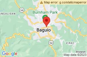 Map of Baguio City, Baguio City Benguet