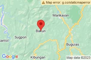 Map of Bakun, Bakun Benguet