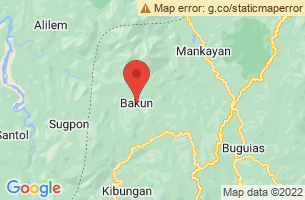Map of Mount Tenglawan, Bakun Benguet