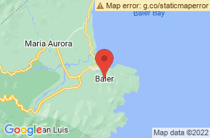 Map of Cemento Beach Surfing, Baler Aurora