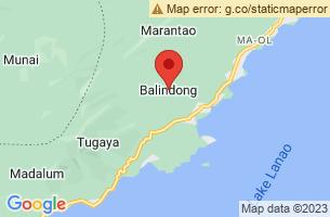 Map of Balindong, Balindong Lanao del Sur
