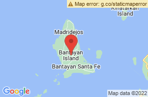 Map of Hilantagaan Island Sanctuary, Bantayan Cebu