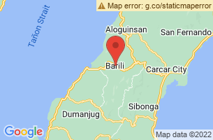 Map of Mantayupan Falls, Barili Cebu